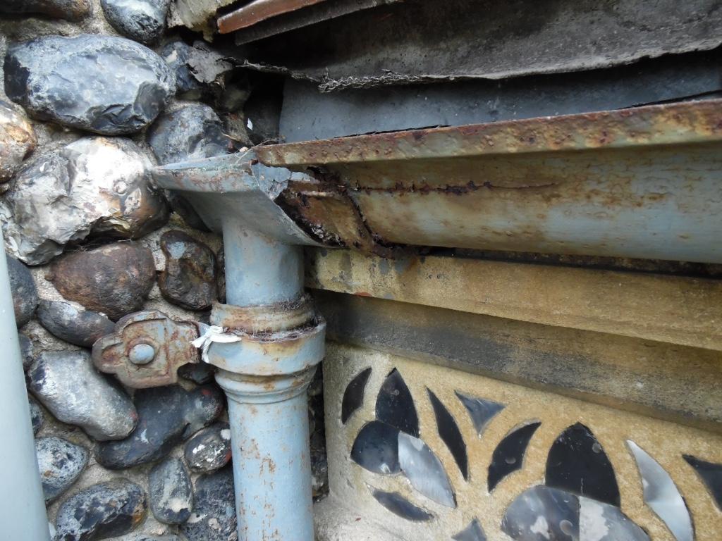 Church rainwater (before replacement)