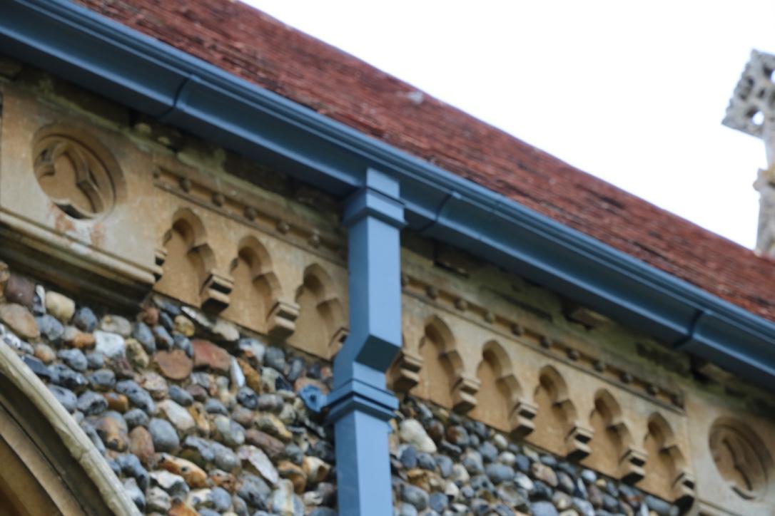 Church rainwater guttering repair