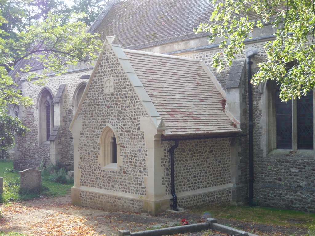 Porch extension to church